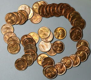 1955-S Roll Lincoln Cent 50 BU United States Coins (19121505R)
