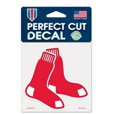 """BOSTON RED SOX VINYL PERFECT CUT DECAL 4""""X4"""" FOR WINDOWS OR LAPTOPS"""