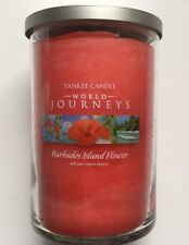 Yankee Candle WORLD JOURNEYS BARBADOS ISLAND FLOWER 20 oz 2 WICK TUMBLER RETIRED