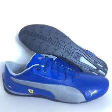 Puma Ferrari Drift Cat 5 Mens Leather Driving Sneakers Size 11 Blue Silver NWOB