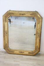 Specchiera antica in legno dorata a foglia oro specchio coevo Sec XIX AFFARE