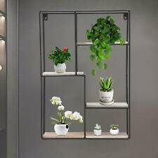 Modern  Metal Wire Wall Shelf Storage Home Office Decor Floating Flower Shelve