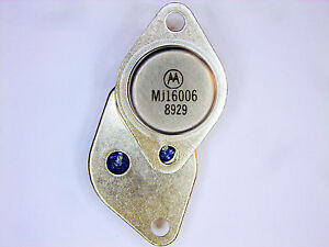 "MJ16006 ""Original"" Motorola Transistor 2  pcs"