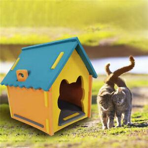 Portable Removable Cat Bed Kitten Pet House Sleeping Cozy Hut Seasons Waterproof
