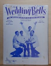 Wedding Bells are Breaking Up - 1954 sheet music -The Four Aces cover photo