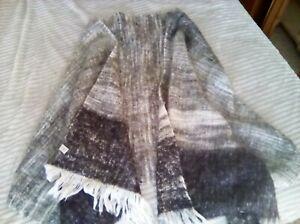 George Large Oversized Blanket Scarf Very Soft & Warm Black & White Mix NWOT