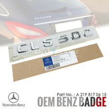 GENUINE OEM MERCEDES BENZ CLS500 CHROME REAR TRUNK BOOT EMBLEM BADGE AMG GERMANY