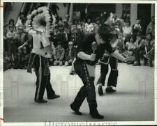 1986 Press Photo New York-Boy Scout Troop 607's Native American Dance Team
