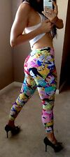 Adeventure Time Athletic Yoga Pants Skinny Sport Gym XS/S Fitted Leggings Print
