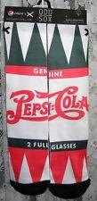 "PEPSI COLA CREW SOCKS UNISEX SHOE SIZE 6-13 ""2 FULL GLASSES"" ODD SOX NWT"