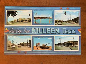 Texas, TX, Killeen, Greetings, Six Views, ca 1960