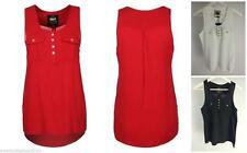 Markenlose Damenblusen, - tops & -shirts mit Rundhals-Ausschnitt ohne Muster