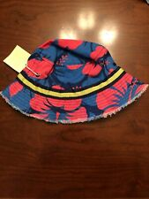 mini boden Childrens Bucket Hat 7-10y Red And Blue