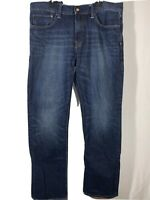 Gap Men's Jeans Sz 34 X 32 Standard Fit Coupe Dark Wash Straight Leg Denim