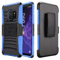 For Galaxy S9 Hybrid Rugged Shockproof Case Belt Clip Armor Cover Holster Stand
