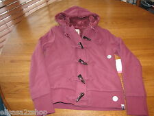 Roxy Juniors Womens S Long Sleeve Hoodie Maroon Jacket SOFT surf **hole** *^