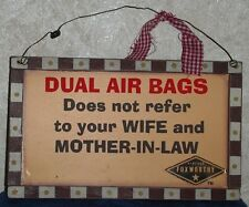 Jeff Foxworthy Collection DUAL AIR BAGS Does Not Refer To WIFE & MOTHER IN LAW