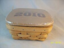 Longaberger 2010 Small Berry Basket Combo w Lid Class of 2010 Warm Brown