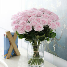 Artificial Silk Fake Rose Flowers Wedding Party Home Bouquet Decor 10 Colours