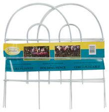 "Panacea 89313 Arch Folding Fence, White, 18"" x 8'"