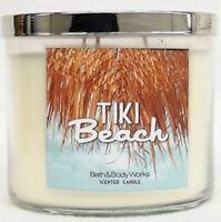 BATH & BODY WORKS TIKI BEACH 3-WICK SCENTED CANDLE 14.5 oz NEW!