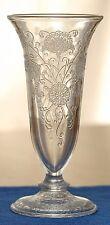 Hazel Atlas Florentine No 2 Poppy Clear Parfait Vase 1930 Deco Depression Glass