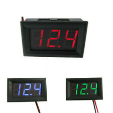 12/24v Car LED Voltmeter Battery Charging Indicator Wiring Dashboard Gauge