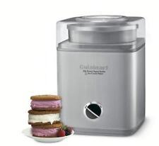 Cuisinart Electronic Ice Cream Maker Frozen Yogurt Sorbet Stainless Steel Lid