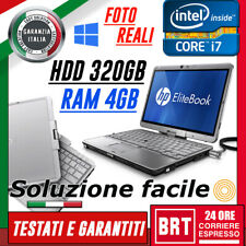 PC NOTEBOOK HP ELITEBOOK 2760P 12,1 CPU i7 4GB RAM HDD 320GB TOUCH SCREEN TABLET