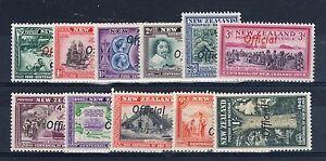 New Zealand 1940 Centennial set OFFICIAL opt LMM/MM