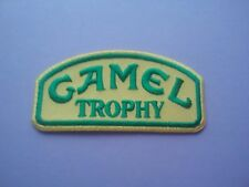 MOTOR RACING OILS FUELS & TYRES SEW ON & IRON ON PATCH:- CAMEL TROPHY