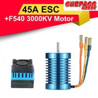 SURPASSHOBBY 3000KV F540 Brushless Motor+45A ESC for 1:10 RC Drift Off-road Car