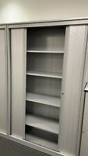More details for office steel fiiling cabinet x 3 with 4 drawers - grey,  1000w x 450d x 1950h.