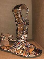 New REBELS 'Burma' Satin Strappy Flat Sandals Size 6