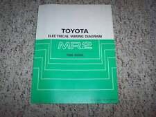 1986 Toyota MR2 Electrical Wiring Diagram Manual STD 1.6L 4 Cyl