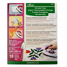 """Wonder Fuse, Fusible Web by Clover, 10 Sheets, 8 x 9"""", #4090"""
