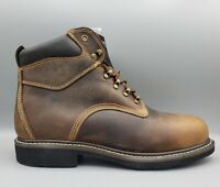 """MCRAE Industrial Men's 6"""" Work Brown Leather Composite Toe Boots Size 13"""