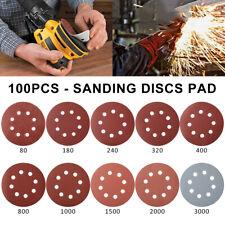 5 inch Sanding Discs Sandpaper 80/180/800/1000/1500/2000/3000 Grit Hook and Loop