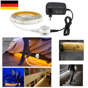 LED Stripe mit PIR Bewegungsmelder Lichtleiste Lichtband EU Licht Streifen Band