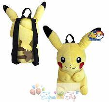 "Pokemon Pikachu Plush Doll Backpack 18"" Nintendo Game Costume Bag"