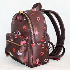 NWOT $295 COACH Premium Mini Charlie Backpack F22234 Oxblood Multi Floral Print