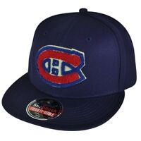NHL American Needle Montreal Canadiens Snapback Flat Bill  Navy Blue Hat Cap