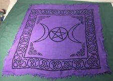 "Square Purple Pentagram Altar Cloth Celtic Knot 20"" x 20"""