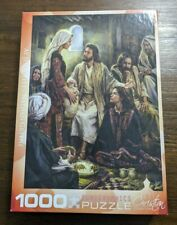 """EuroGraphics 1,000 Piece Puzzle/""""At Jesus' Feet""""/By Nathan Greene ~ COMPLETE!"""