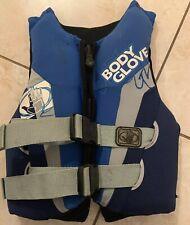 Body Glove Ski Vest/ Wake Boarding Vest Youth 50-90LBS Blue/white