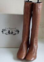 LK BENNETT Brown Tan Leather Kitten Heel Knee High Boots Size EU 36 UK 3 US 5