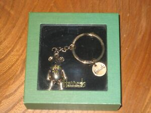 HARRODS JOINTED TEDDY BEAR KEY RING * UNUSED & BOXED