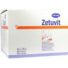 ZETUVIT Saugkompresse unsteril 10x20cm 30St PZN: 1905513
