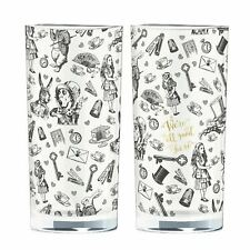 More details for reduced v&a alice in wonderland 2 highball glasses hi ball drinking tumblers