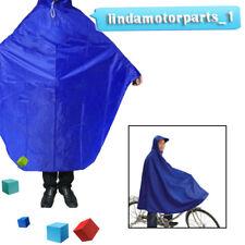 Cycling Bicycle Bike Raincoat Rain Cape Poncho Cloth Gear Rainproof Blue Superb